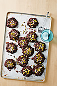 Coconut and pepita chocolate rounds