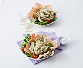 Gebackene Sardinen mit Kräuter-Pinienkern-Füllung