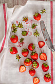 Strawberries, view from above