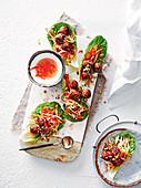 Vietnamese meatball lettuce wraps