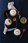 Passion fruit dessert with a meringue topping