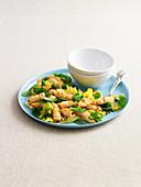 Spicy stir-fried squid salad
