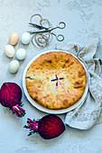 Beetroot pie