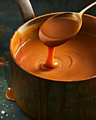 Salted caramel in pot