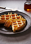 Waffle with honey