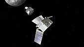 BepiColombo spacecraft separation at Mercury, illustration