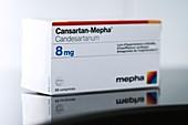 Packet of Cansartan high blood pressure drug