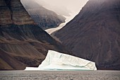 Fjord and iceberg at Bloomster-bugten, Greenland