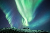 Aurora over mountains, Alaska