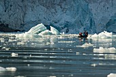 Snout of glacier, Hamiltonbrukt, Svalbard