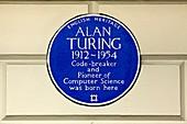 Alan Turing plaque, London