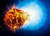 White Dwarf Destroys Planet