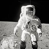 Apollo 12 astronaut Bean on the Moon, 1969