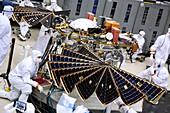 InSight Mars lander solar array test, January 2018