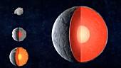 Planetary formation, illustration