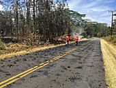 USGS scientists monitoring Kilauea eruption, May 2018