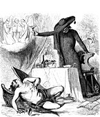 Death of the Devil, 19th Century illustration