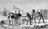Wullerstorf Urtair on Nicobar Islands, 19th C illustration