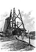 19th Century Russian oil exploration, illustration