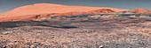 Mount Sharp on Mars, Curiosity rover image