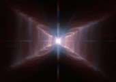 Nebula around star HD 44179, HST image