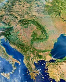 Central Europe, satellite image