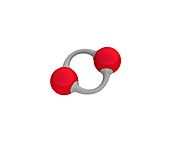 Oxygen molecule, illustration