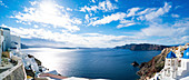 Caldera on the island of Santorini, Greece