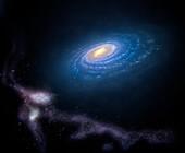 Milky Way and Magellanic Stream, illustration