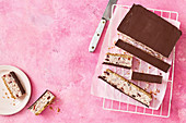Gluten-free and dairy-free choc-cherry-slice