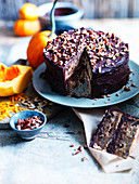 Butternut-Chocolate-Cake with nuts