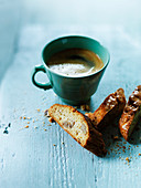 Coffee and cantuccini
