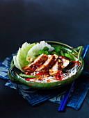 Chicken with glass noodles, lemongrass, chillies and peanuts