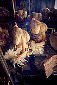 Fresh Polish chickens in a butcher's shop