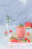 Watermelon granita with thyme