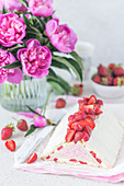 No Bake Käsekuchen mit Erdbeeren