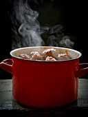 Steaming meatballs