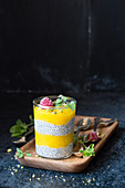Chia and mango pudding