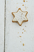 Gingerbread on a wooden background
