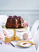 Hazelnut espresso drizzle cake