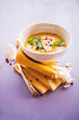 Caribbean pumpkin and coconut soup with coriander