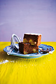 Caribbean chocolate and pineapple brownies