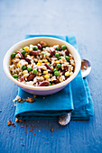 Caribbean rice with beans, peas and sweetcorn