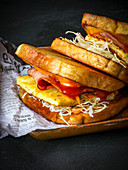 Koreanische Toast-Sandwiches