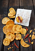 Corn and chili chips