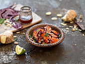 Thai style slaw with ginger