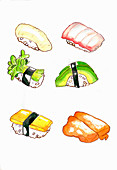 Nigiri sushi (Illustration)