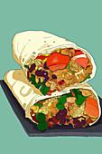 TexMex Burrito (Illustration)