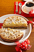 Austrian New Year's cake with a nut, poppyseed and apple filling and shortcrust stars