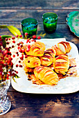 Lemon Hasselback potatoes